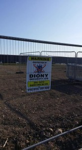 Diony Security signage