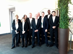 some of the CP team for F1 UK with our German friend